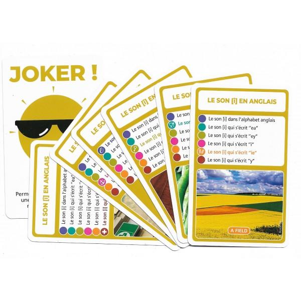 SoCartes est un jeu de société pour les enfants - jeu de carte-Le son [ i ] en anglais