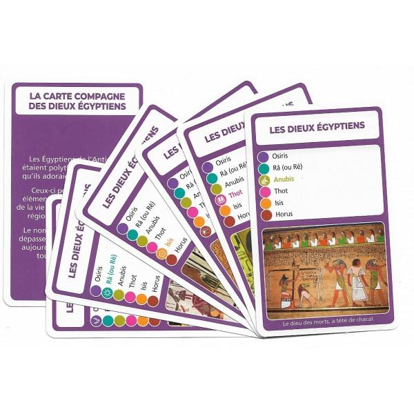SoCartes est un jeu de société pour les enfants - Les dieux égyptiens
