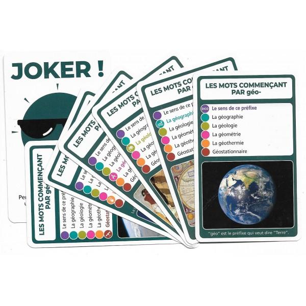 SoCartes est un jeu de société pour les enfants - Les mots commençant par géo-