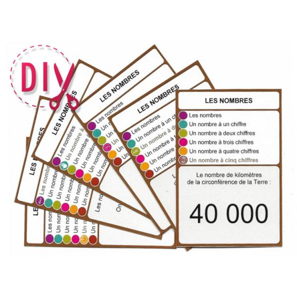 Les nombres - DIY - SoCartes est un jeu de société pour les enfants