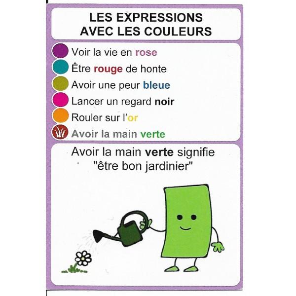 Les expressions avec les couleurs2 - DIY - SoCartes est un jeu de société pour les enfants
