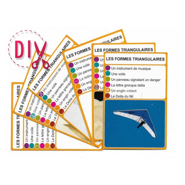 Les formes triangulaires - DIY - SoCartes est un jeu de société pour les enfants