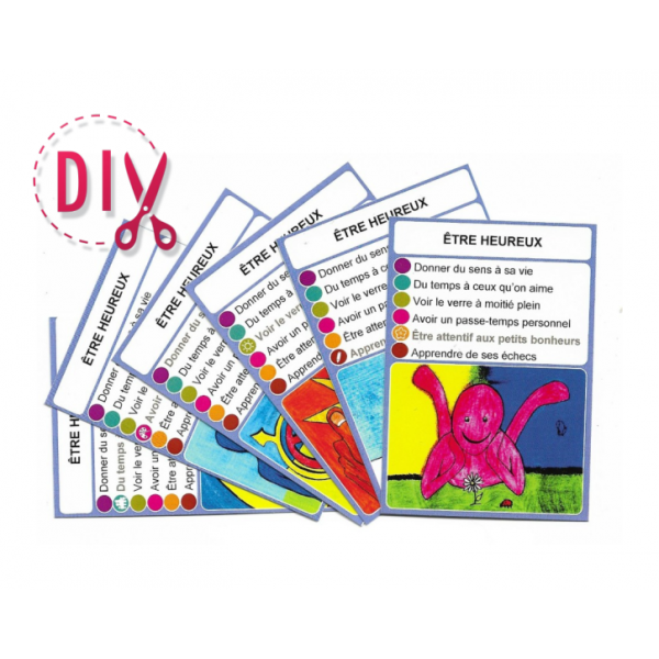 Être heureux- DIY - SoCartes est un jeu de société pour les enfants