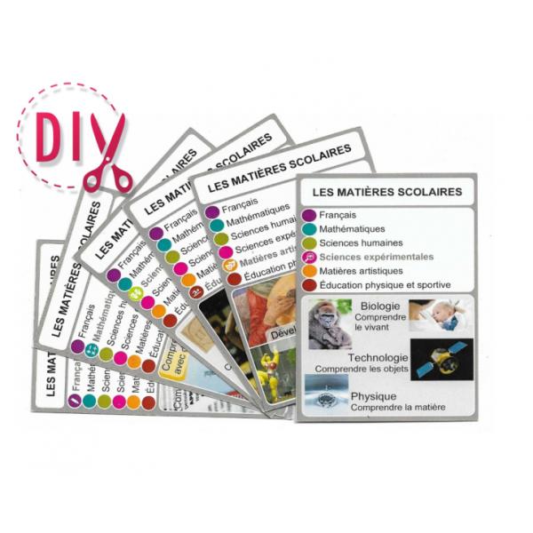 Les matières scolaires- DIY - SoCartes est un jeu de société pour les enfants