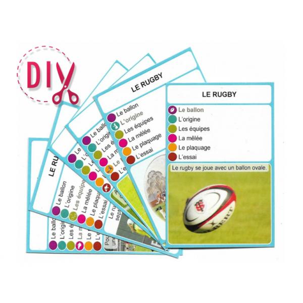 Le rugby- DIY - SoCartes est un jeu de société pour les enfants