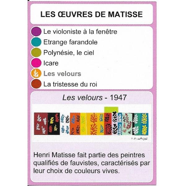 Les œuvres de Matisse1- DIY - SoCartes est un jeu de société pour les enfants