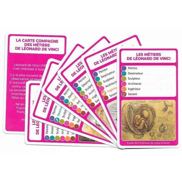 Les métiers de Léonard de Vinci- DIY - SoCartes est un jeu de société pour les enfants