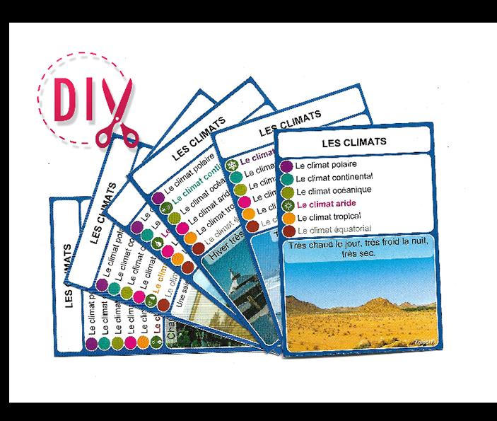 Les climats - DIY - SoCartes est un jeu de société pour les enfants