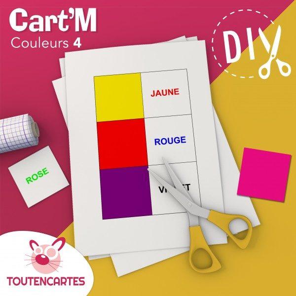 Cart'M Couleurs 4-DIY - SoCartes est un jeu de société pour les enfants