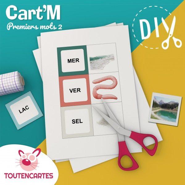 Cart'M Premiers mots 1-DIY - SoCartes est un jeu de société pour les enfants