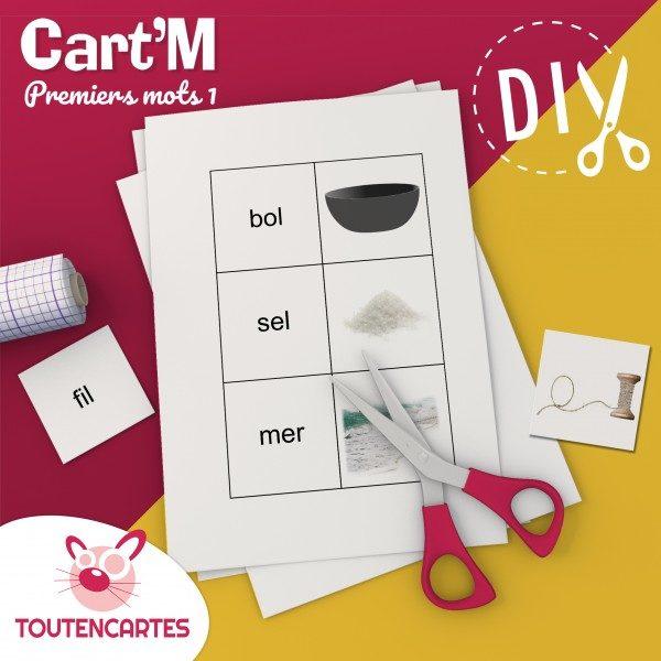 Cart'M Premiers mots 2-DIY - SoCartes est un jeu de société pour les enfants