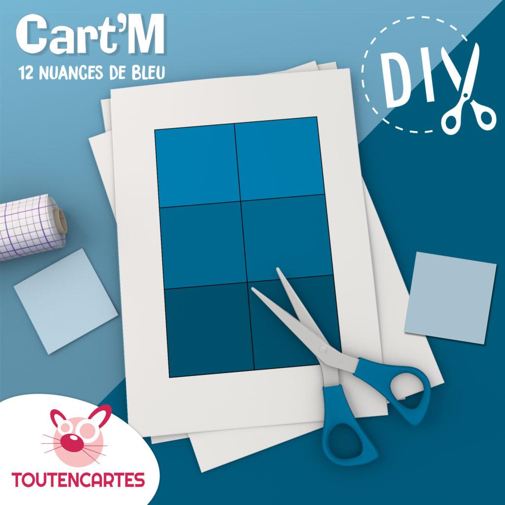 Cart'M Douze nuances de bleu- DIY - SoCartes est un jeu de société pour les enfants
