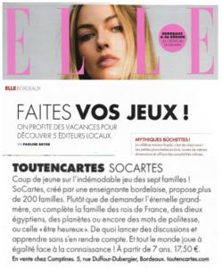 Presse Toutencartes - Magazine ELLE, édition Bordeaux